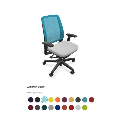 3D Configurator for desk chair