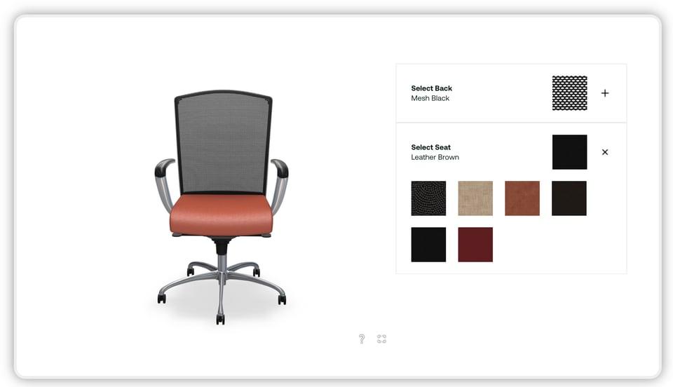 3d chair customizer