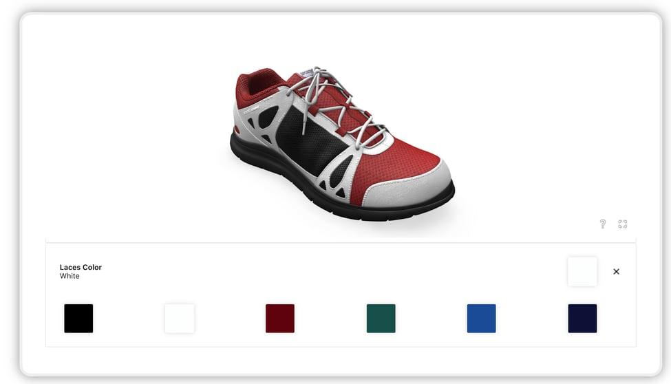 3d shoe customizer