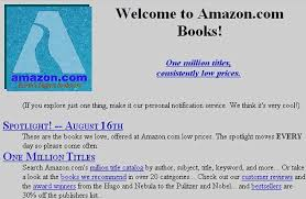 Amazon books page in back in 90's