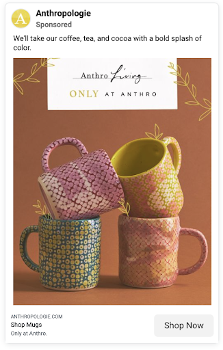 An example of a nicely-staged ad image from Anthropologie.