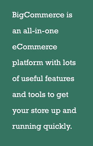 Bigcommerce - the all in one ecommerce store