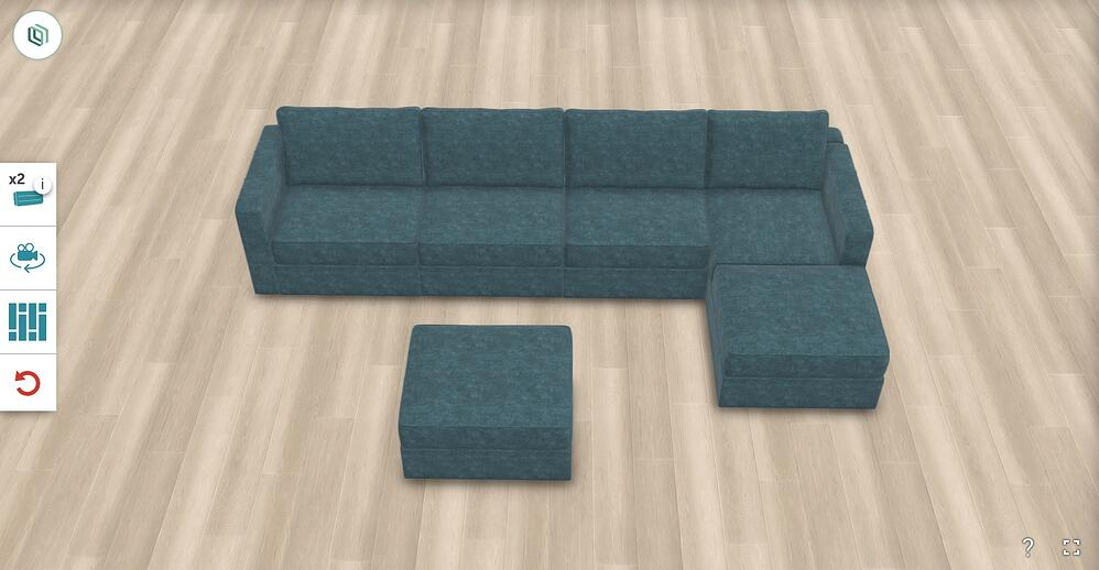 Build your own sactional with as many seats and colors
