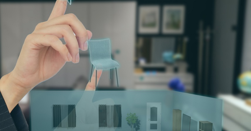 Creating a furnished living room through AR for commerce
