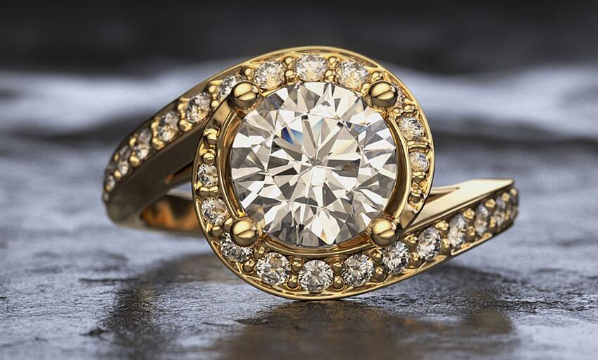 high quality engagement ring virtual photograph