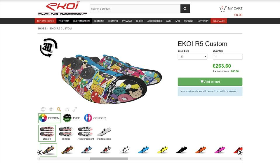 Ekoi online shoe customizer