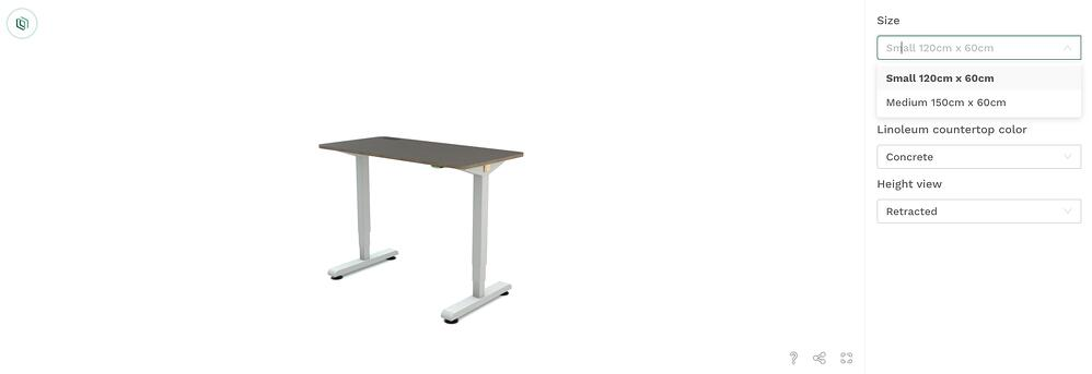 Euclif desk configurator