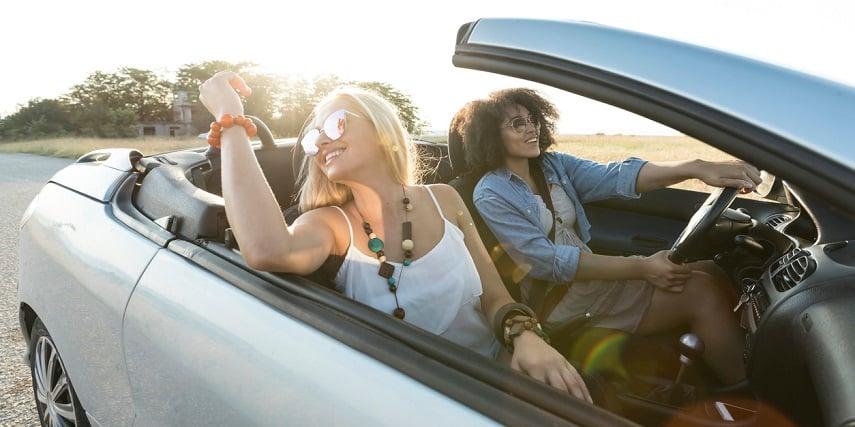 Friends driving in a car created through a 3D car customization online platform