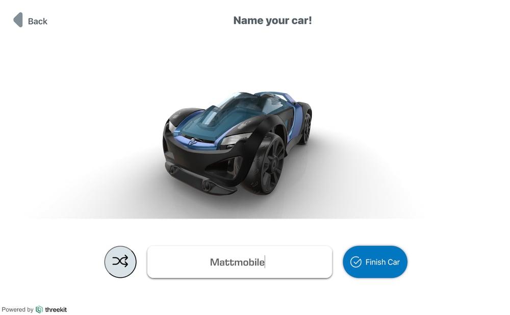 Modarri Toy Car online configurator