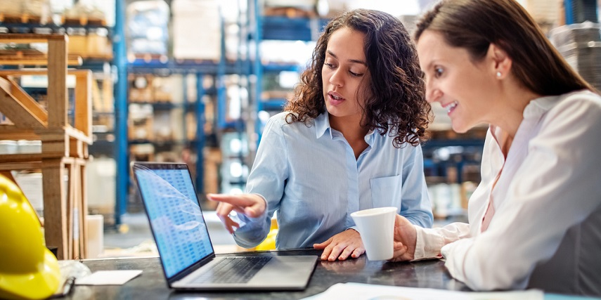 Inventory managers looking at order reports through their product customizer software integration
