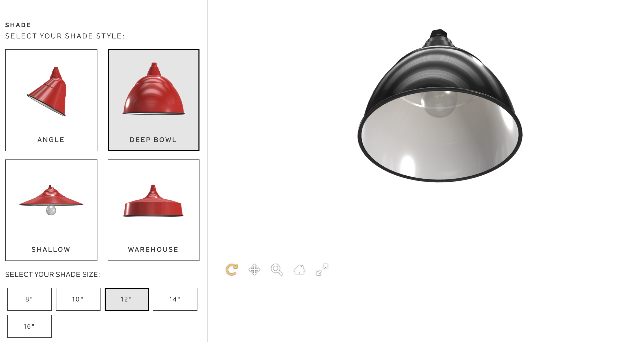 Kitchler lighting Shopify configurator