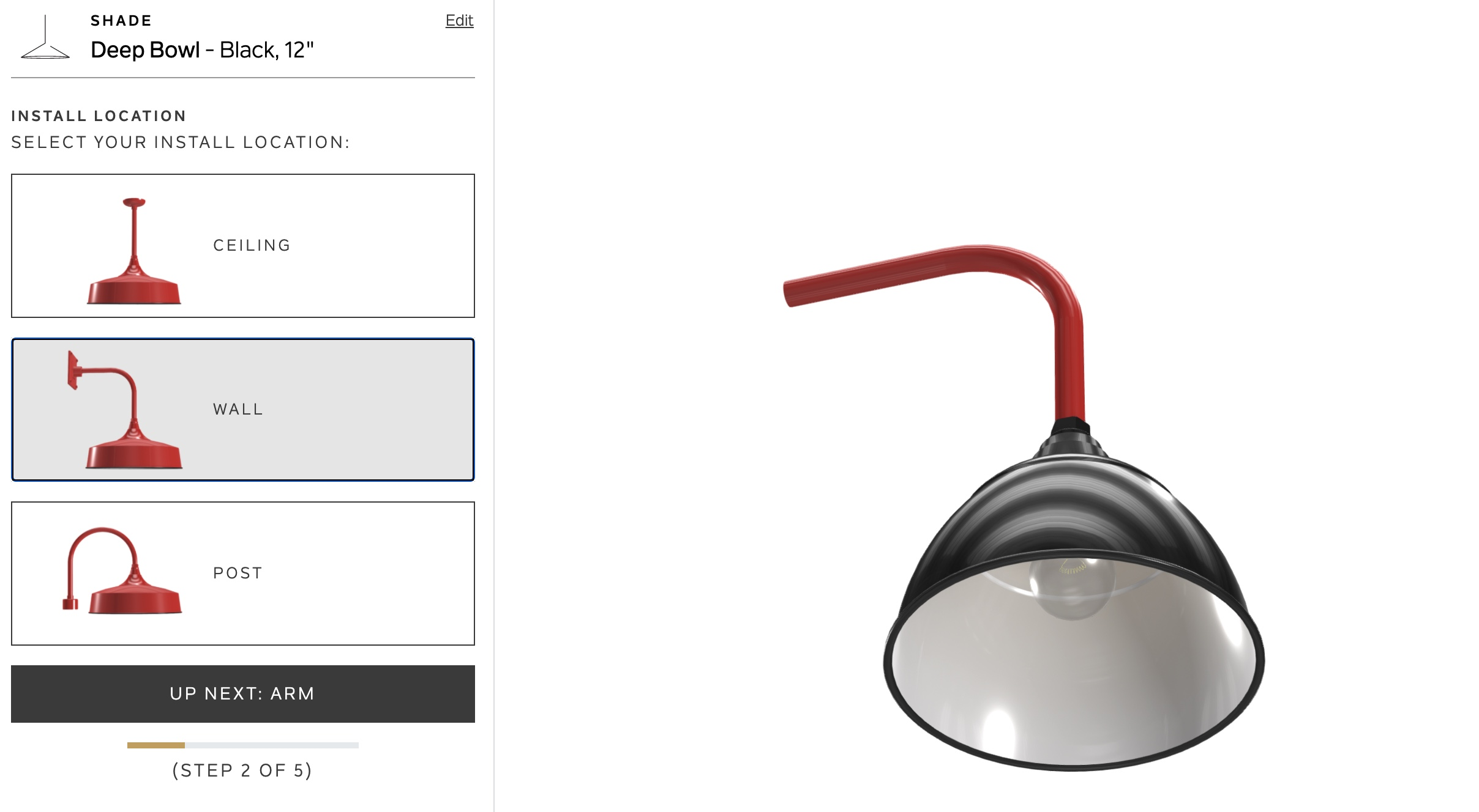 Kitchler online lighting configurator