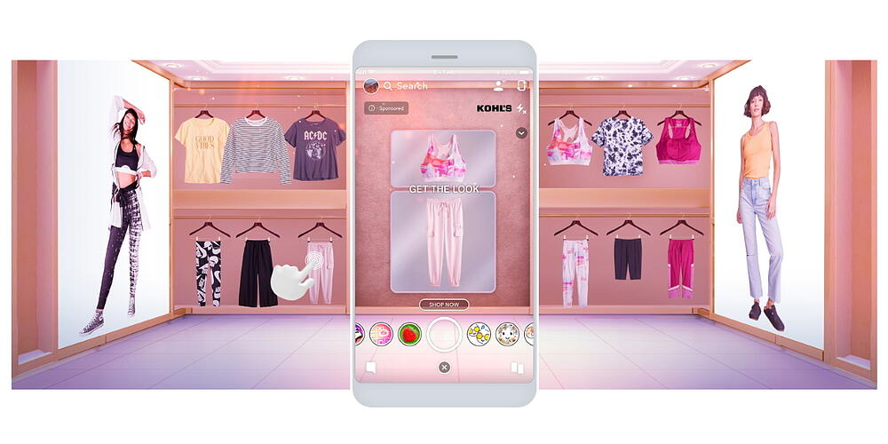 Kohls snapshot of augmented reality for kid dressing room