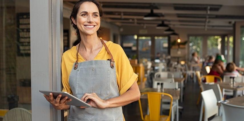 Restaurant owner thinking about redesigning her restaurant