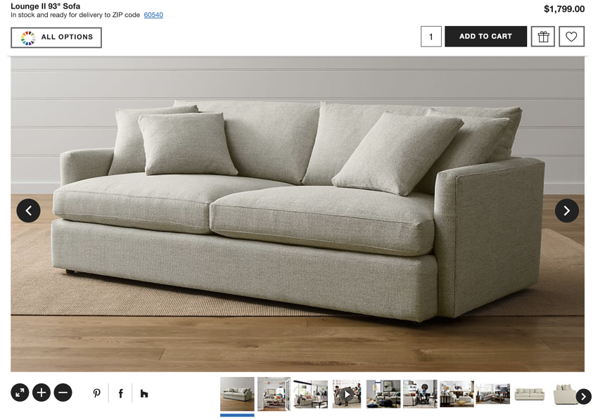 8 eCommerce images per product