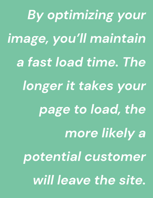 Optimizing images for faster load time