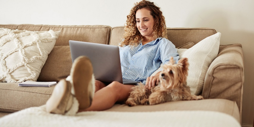 Shopper relaxing and browsing through a Shopify product customizer for fun