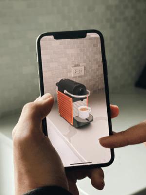 augmented reality nespresso