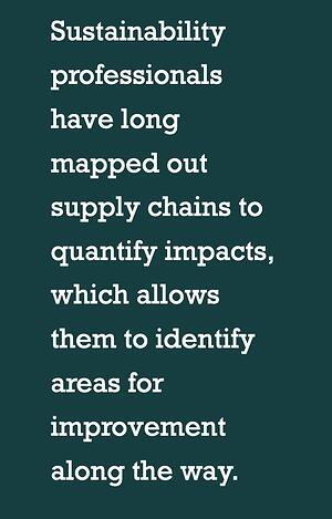 How supply chain affects sustainability