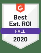 G2-Best Est ROI - 2021