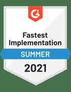 G2-Fastest Implementation Summer 2021