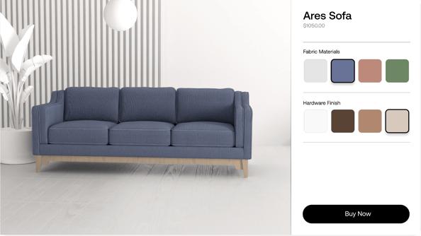 sofa 3d configurator