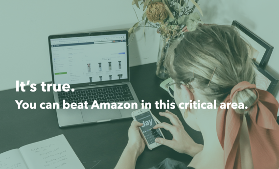 beat amazon with better visuals