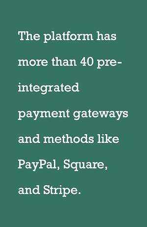 bigcommerce and pre-integrated payment gateways