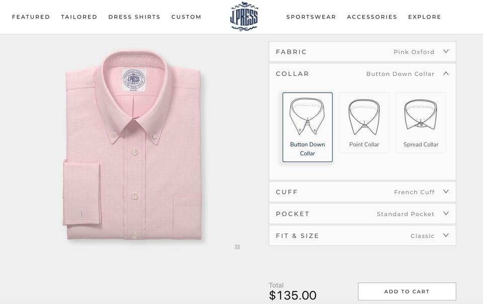 j press shirt customizer