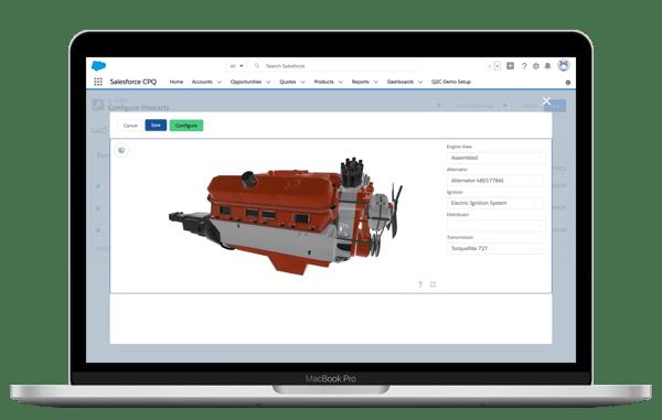 Salesforce for sales teams 3D configuration