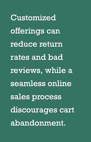 customized offerings can reduce return rates