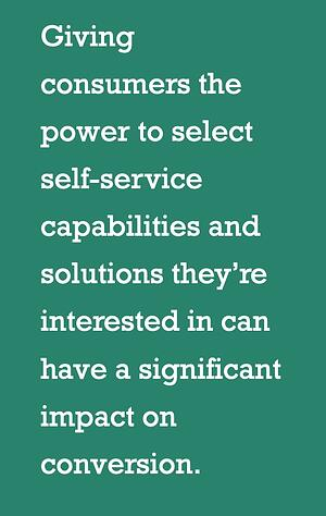 give customers the power of self selection