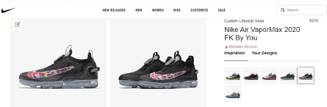 nike customized shoe configurator