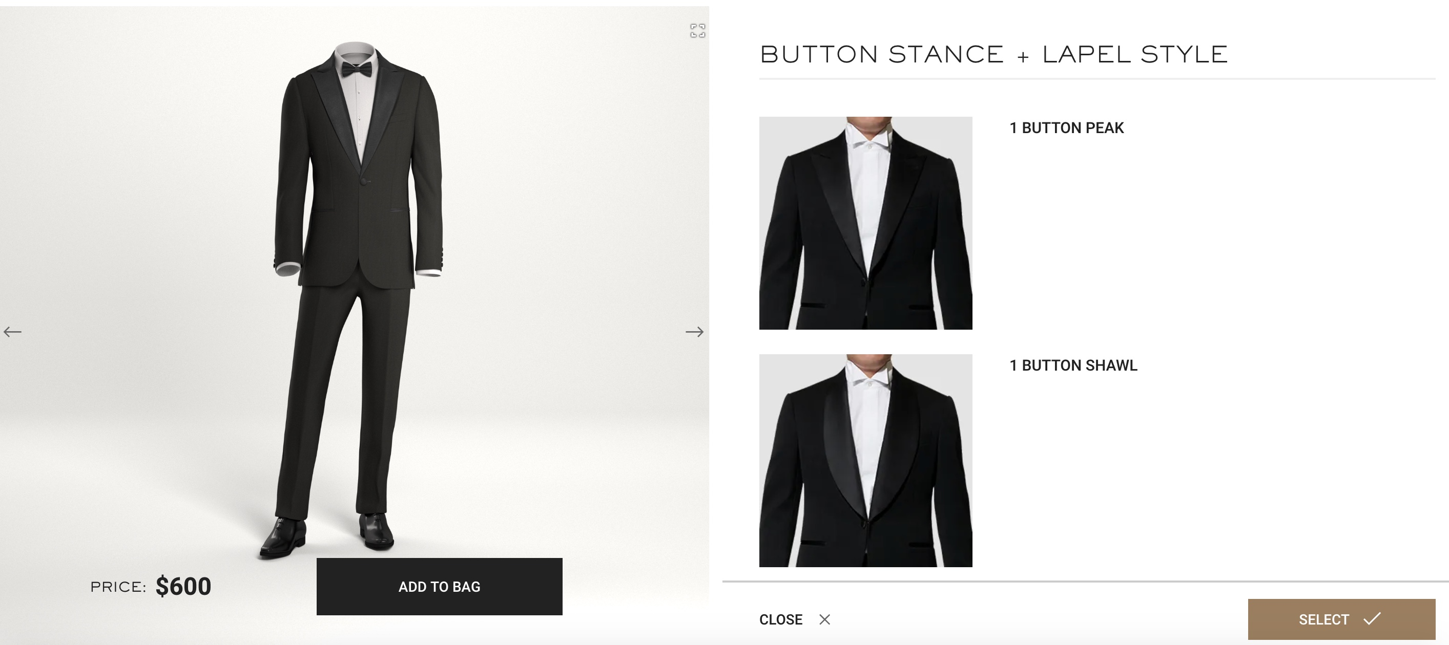 online suit configurator