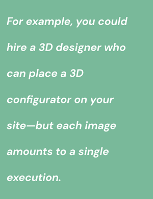 quote on 3d designer and configurator