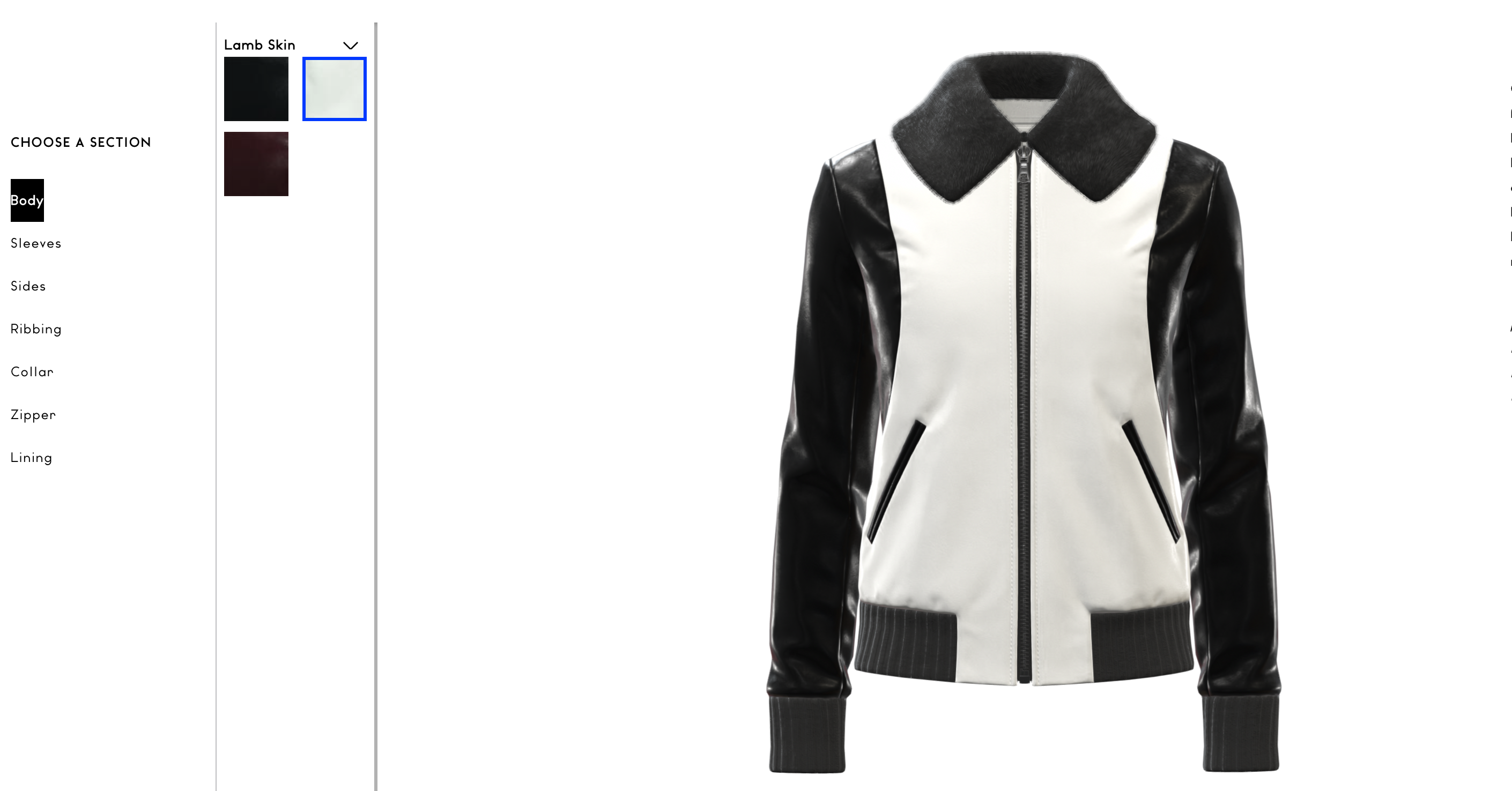 choiss ny jacket 3d configurator
