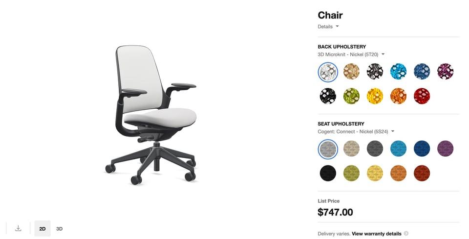 steelecase chair customizer