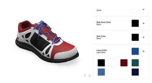 threekit shoe customizer