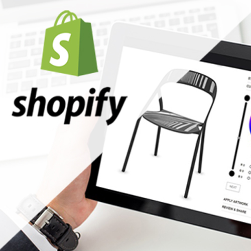 Shopify integration with Threekit shown in tablet screen