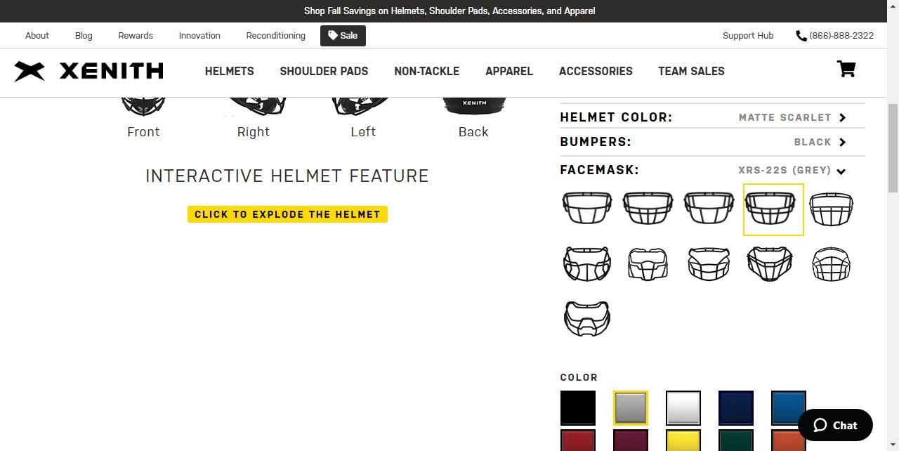 facemask customizer for Xenith helmets