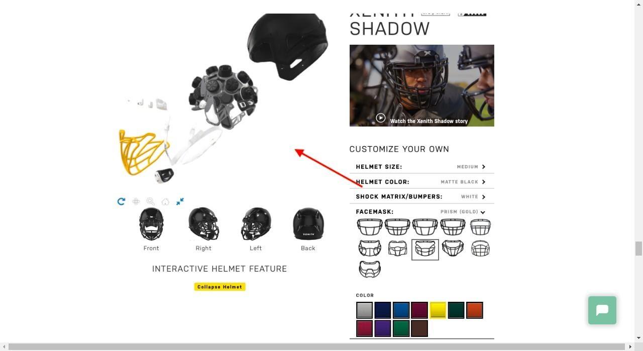 xenith helmet exploder