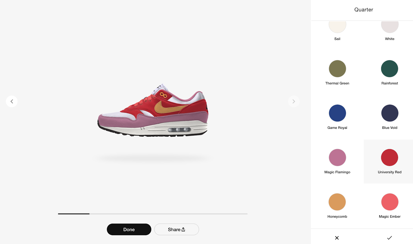 Nike shoe configurator and customizer