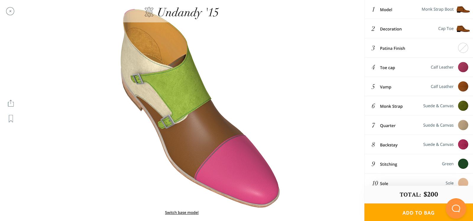 3d shoe configurator