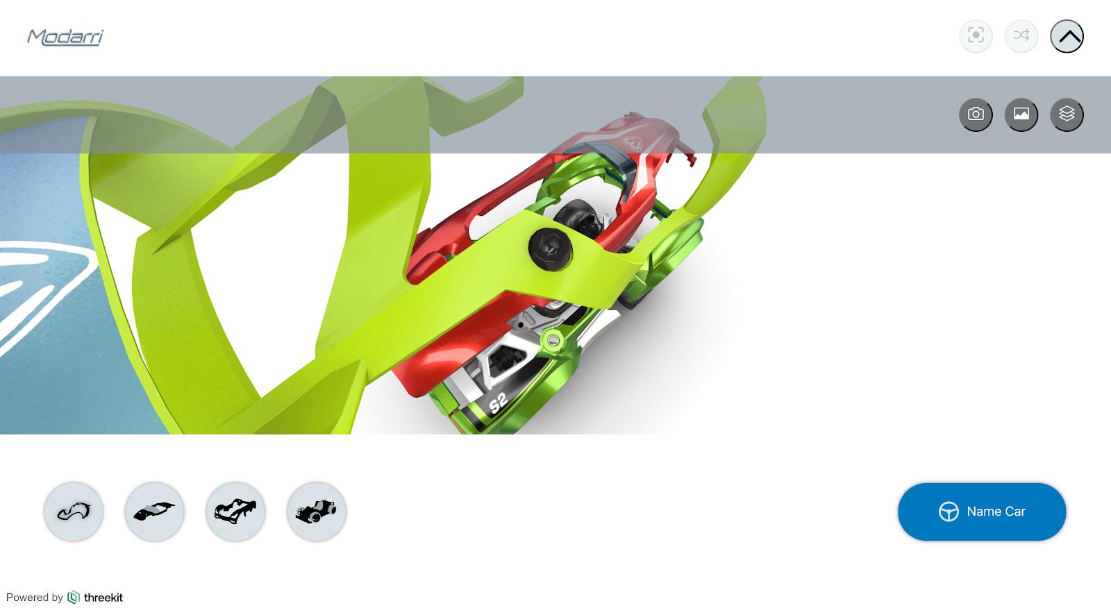 Modarri toy car explision view