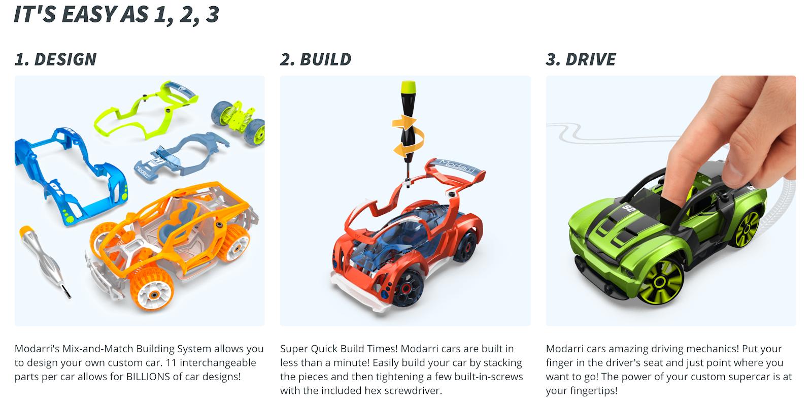 Modarri car toy customizer