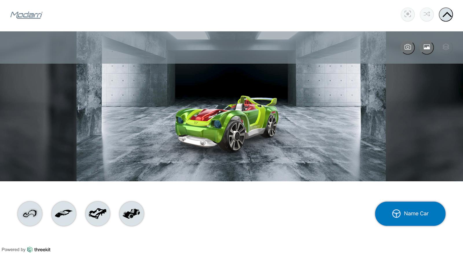 Modarri toy car configurator