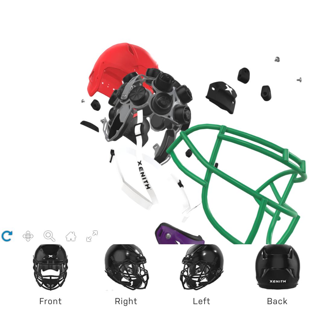 Xenith helmet explosion view