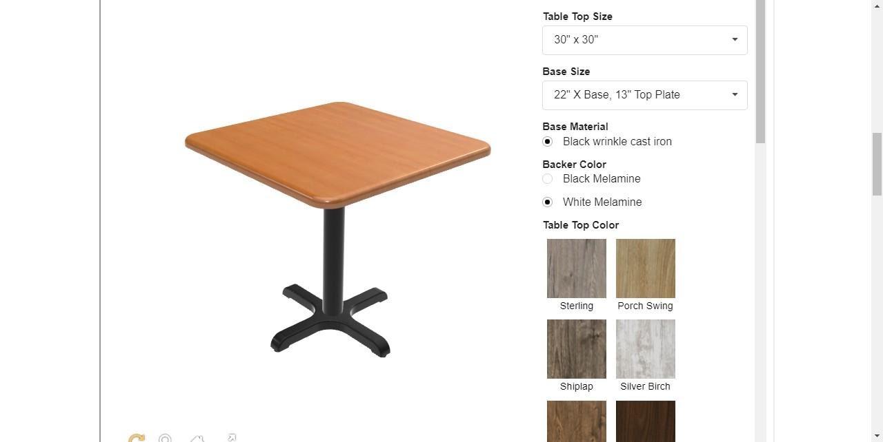 stratis table customizer