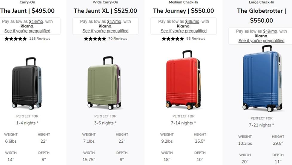 roam luggage customers