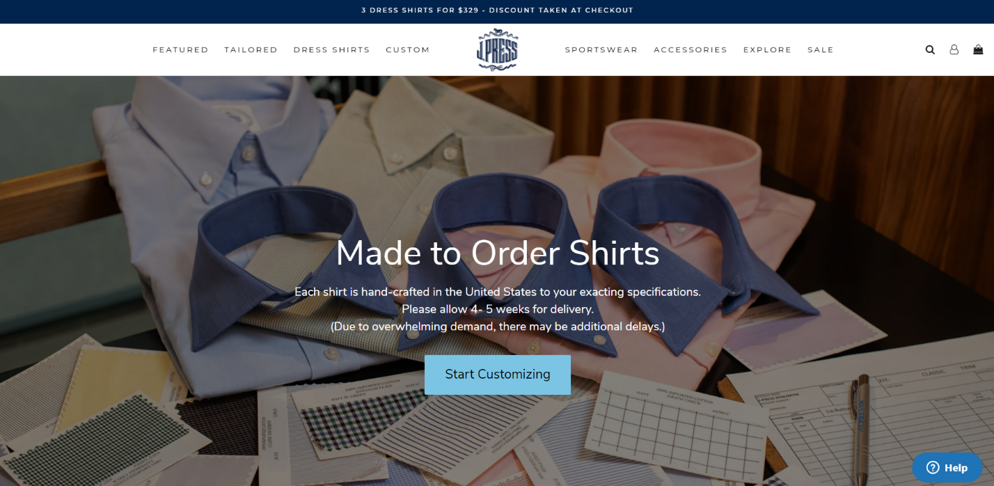 made to order shirts online